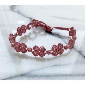 NWOT HANDMADE IN ITALY Pink Clover Bracelet/Anklet